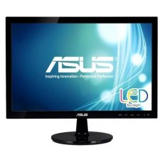 ASUS VS197DE black (LED, LCD, Wide, 1366x768, 5 ms, 90°/65°, 200 cd/m, 50`000`000:1, +D-Sub)